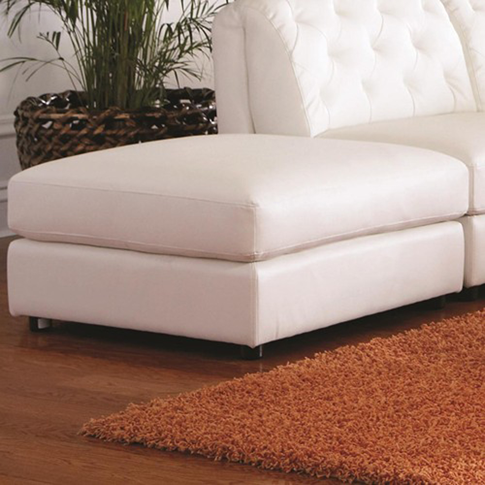 Coaster Furniture Quinn Ottoman (white) - 551023