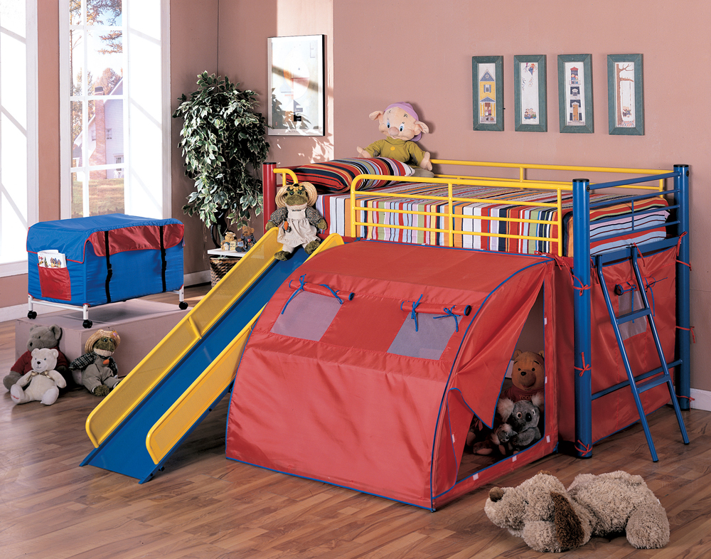 Coaster Furniture Twin Bunk Bed W/ Slide & Tent - 7239