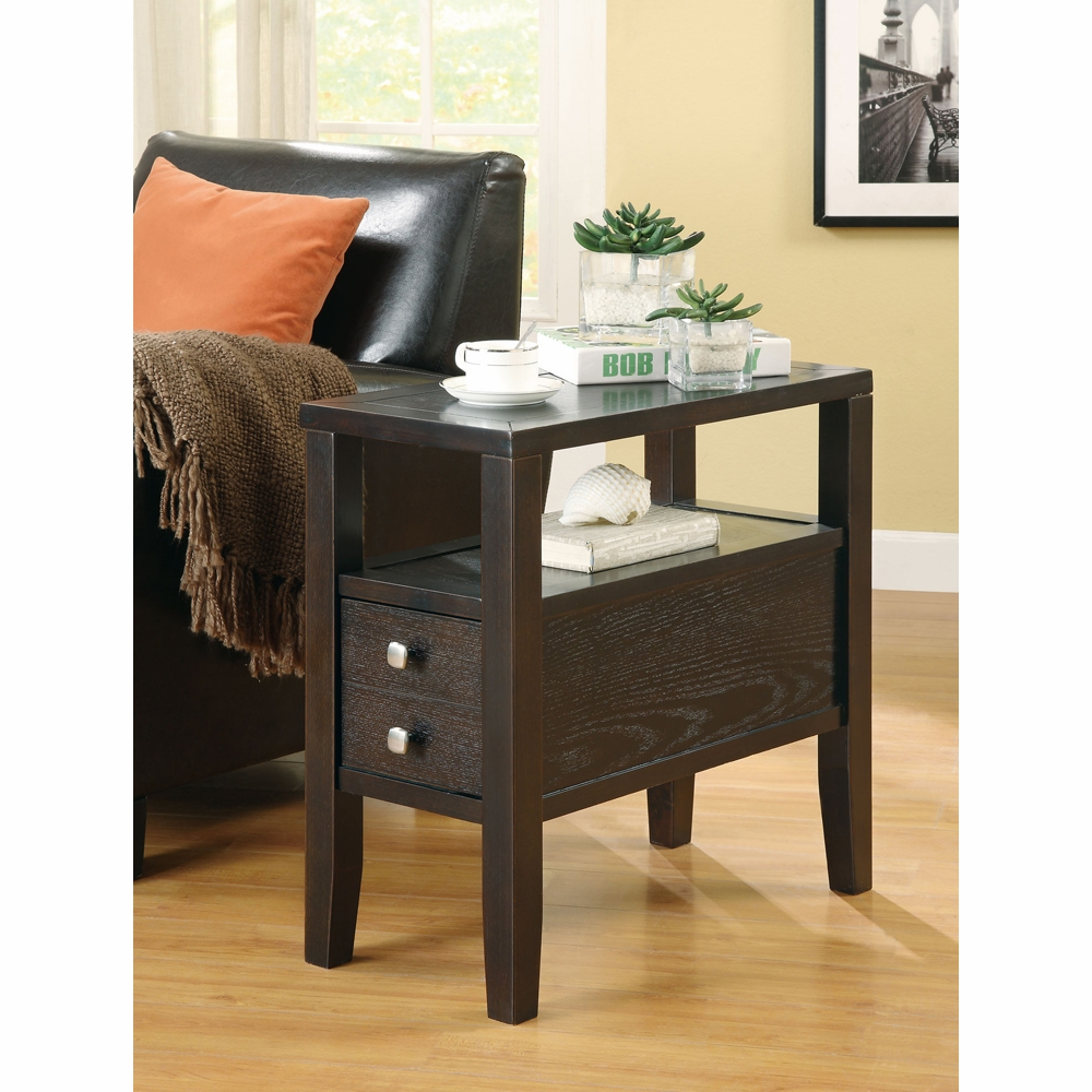 Coaster Chairside Table Cappuccino 900991