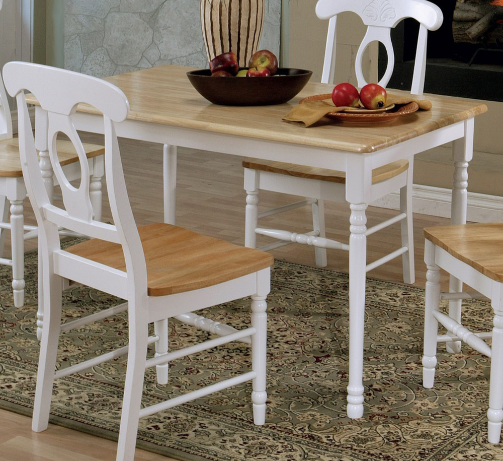 Dining Table (Brown/White)