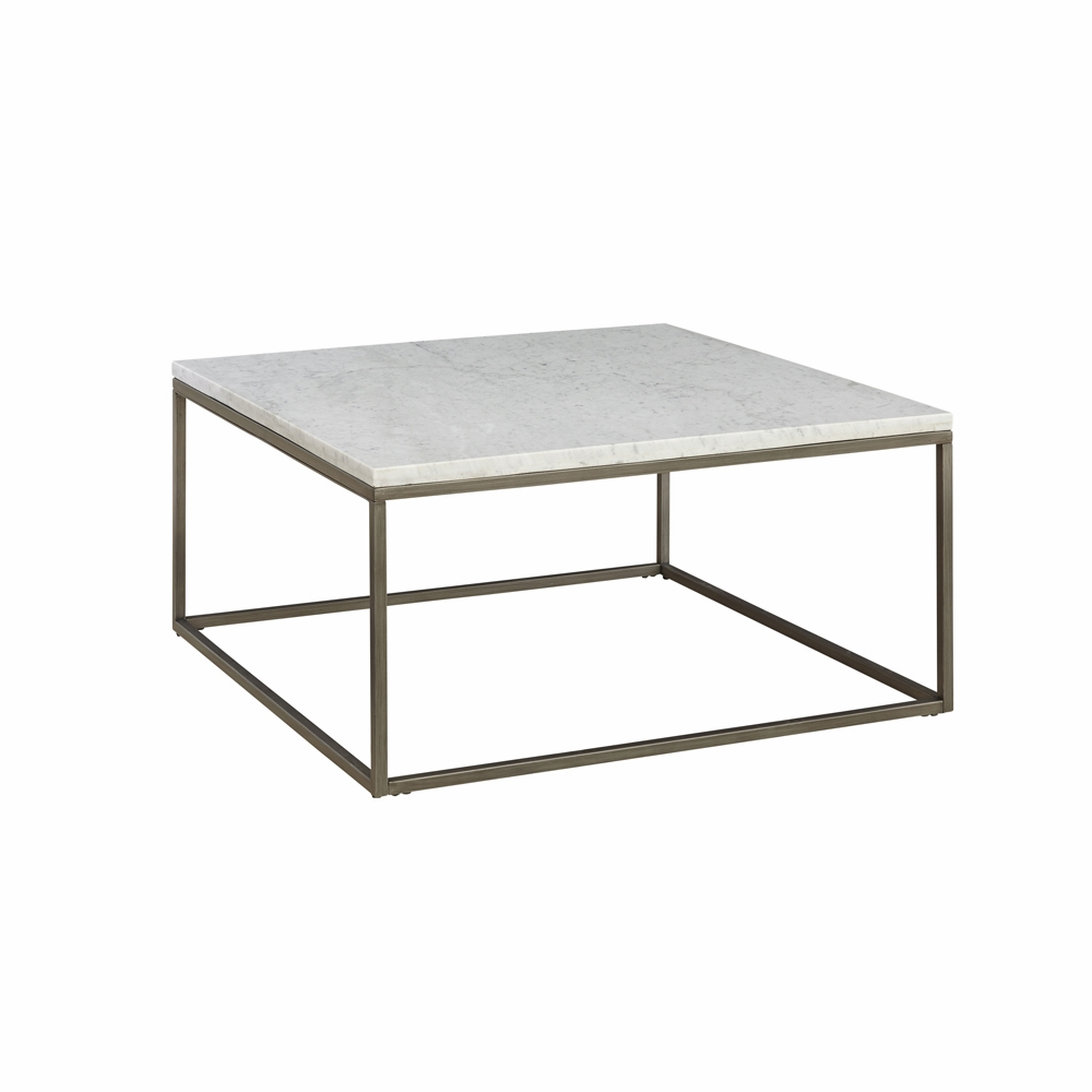 White Marble Coffee Table Set: Alana Square Coffee Table With White Marble Top