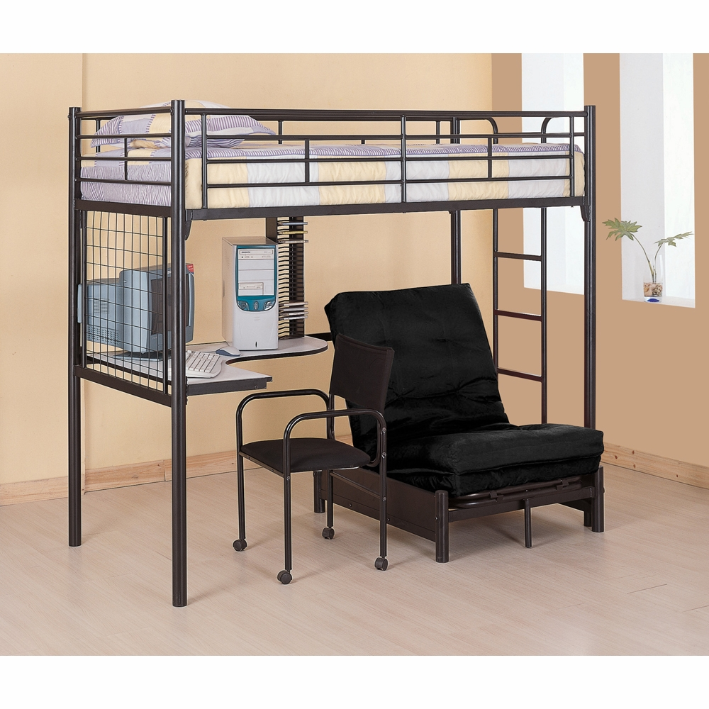 Coaster Twin Workstation Bed Glossy Black 2209