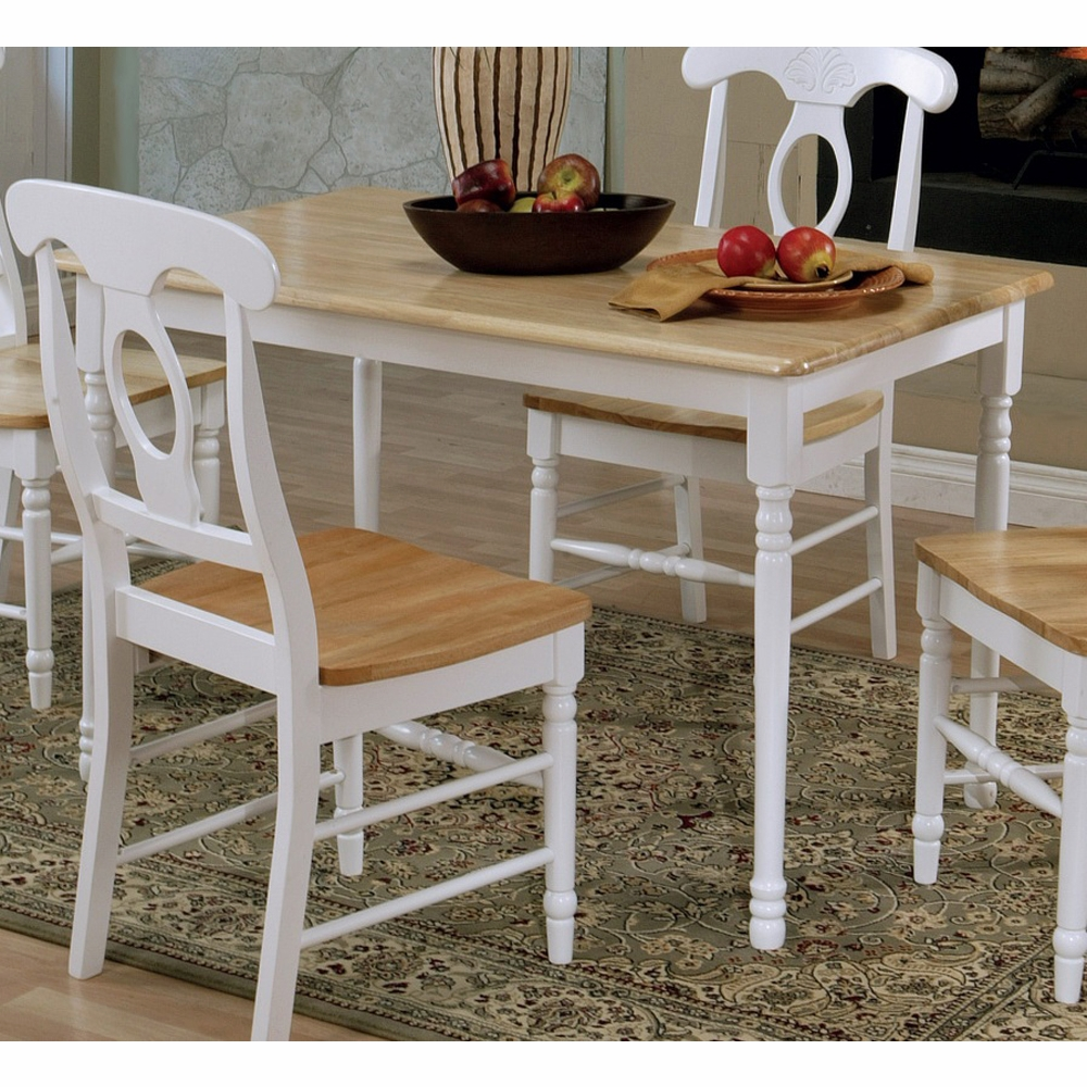 White And Brown Dining Table: Dining Table (Brown/White)