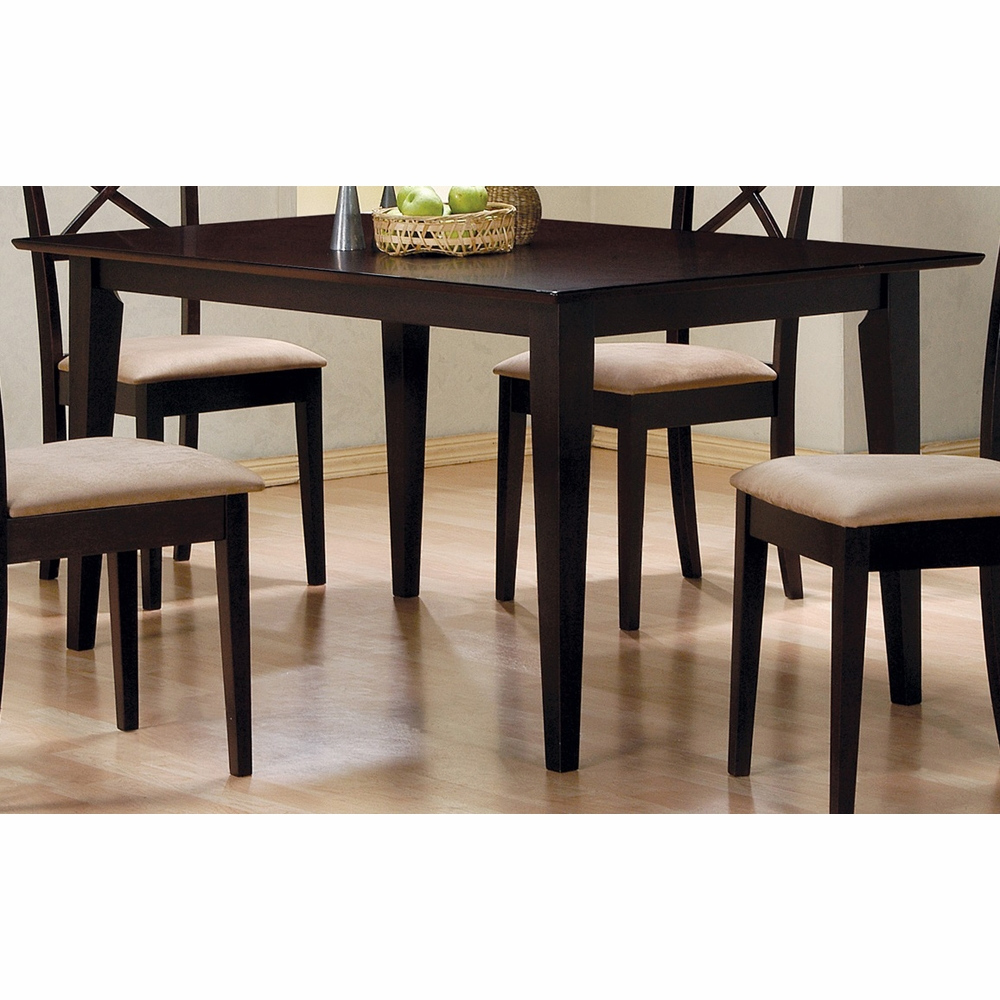 Coaster Dining Table Cappuccino 100771