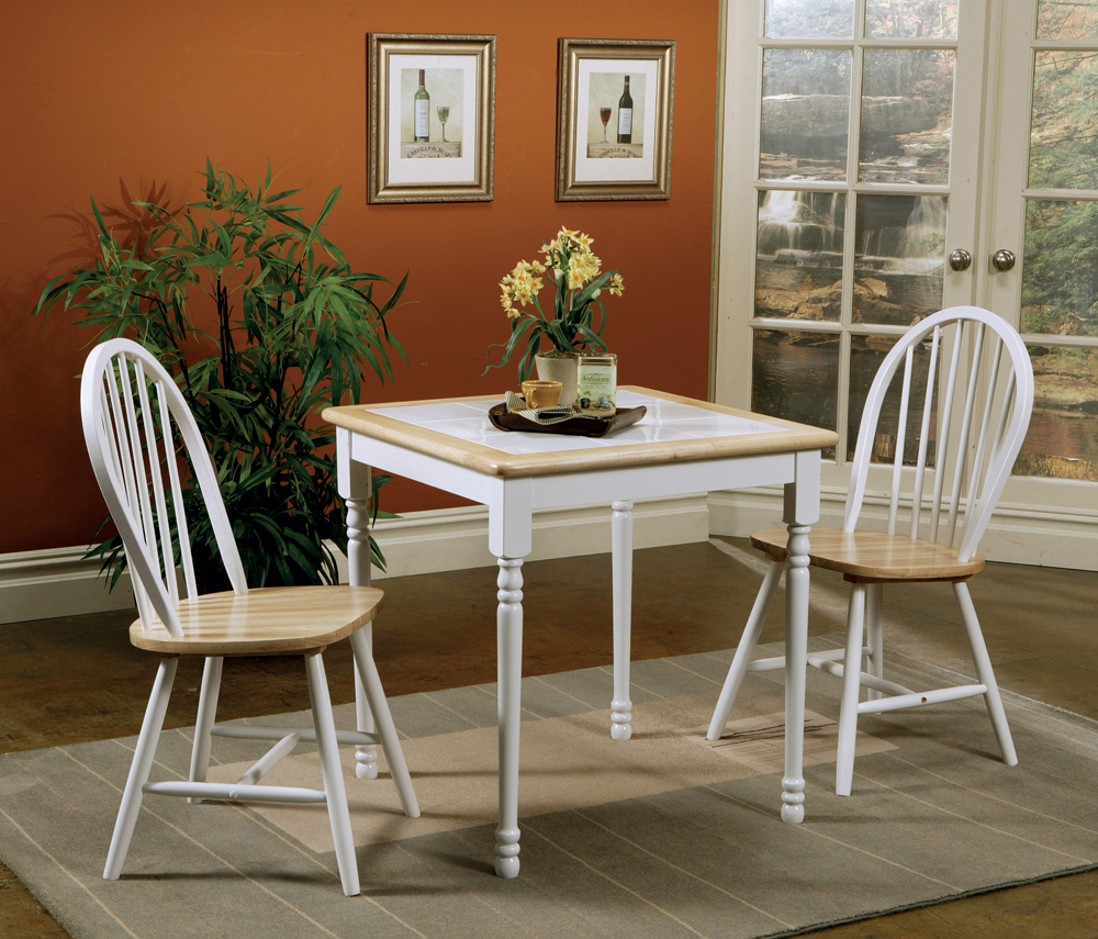 Dining Table (Natural Brown/White)
