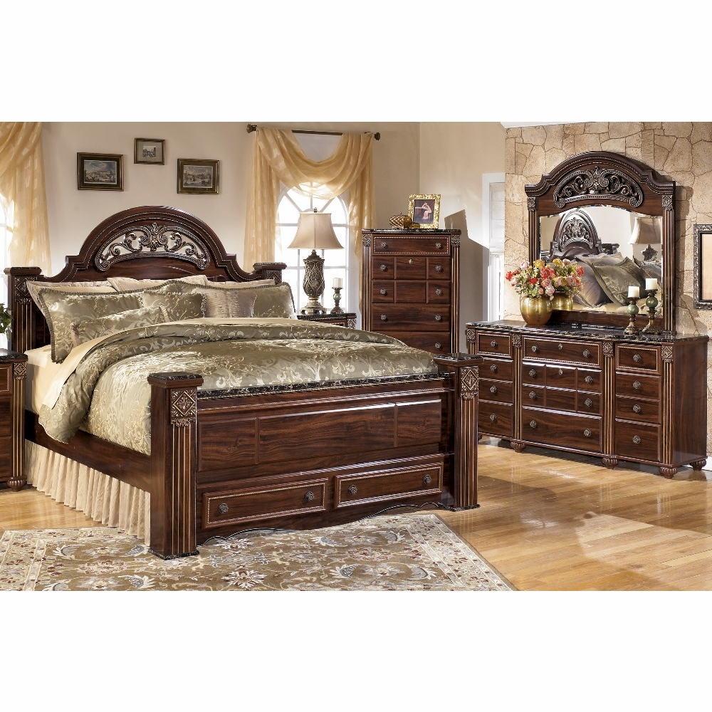 Download Bedroom Ashley Furniture Store Bedroom Sets With: Gabriela 4 Piece Queen Poster