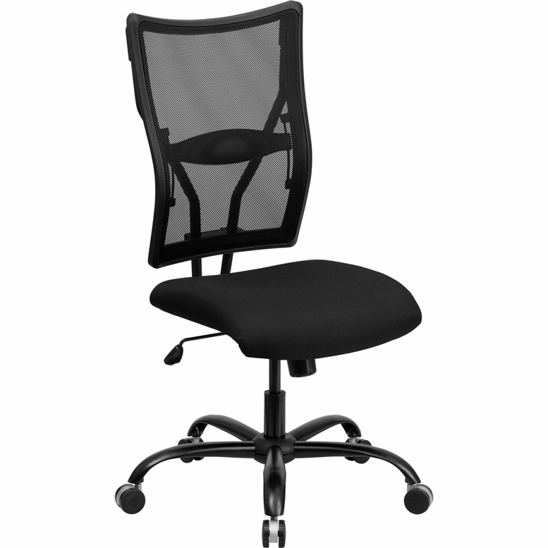 Flash Furniture   Hercules Series 400 Lb. Capacity Big U0026 Tall Black Mesh  Office Chair   WL 5029SYG GG
