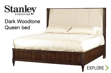 Stanley Dark Woodtone Queen Bed