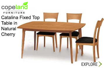 Copeland Catalina  Ffixed Top Table In Natural Cherry