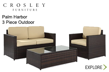 Crosley Palm Harbor 3 Piece Outdoor