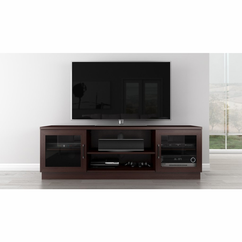 Furnitech 70 Contemporary Tv Stand Media Console For Flat Screen And Audio Video Installations In A