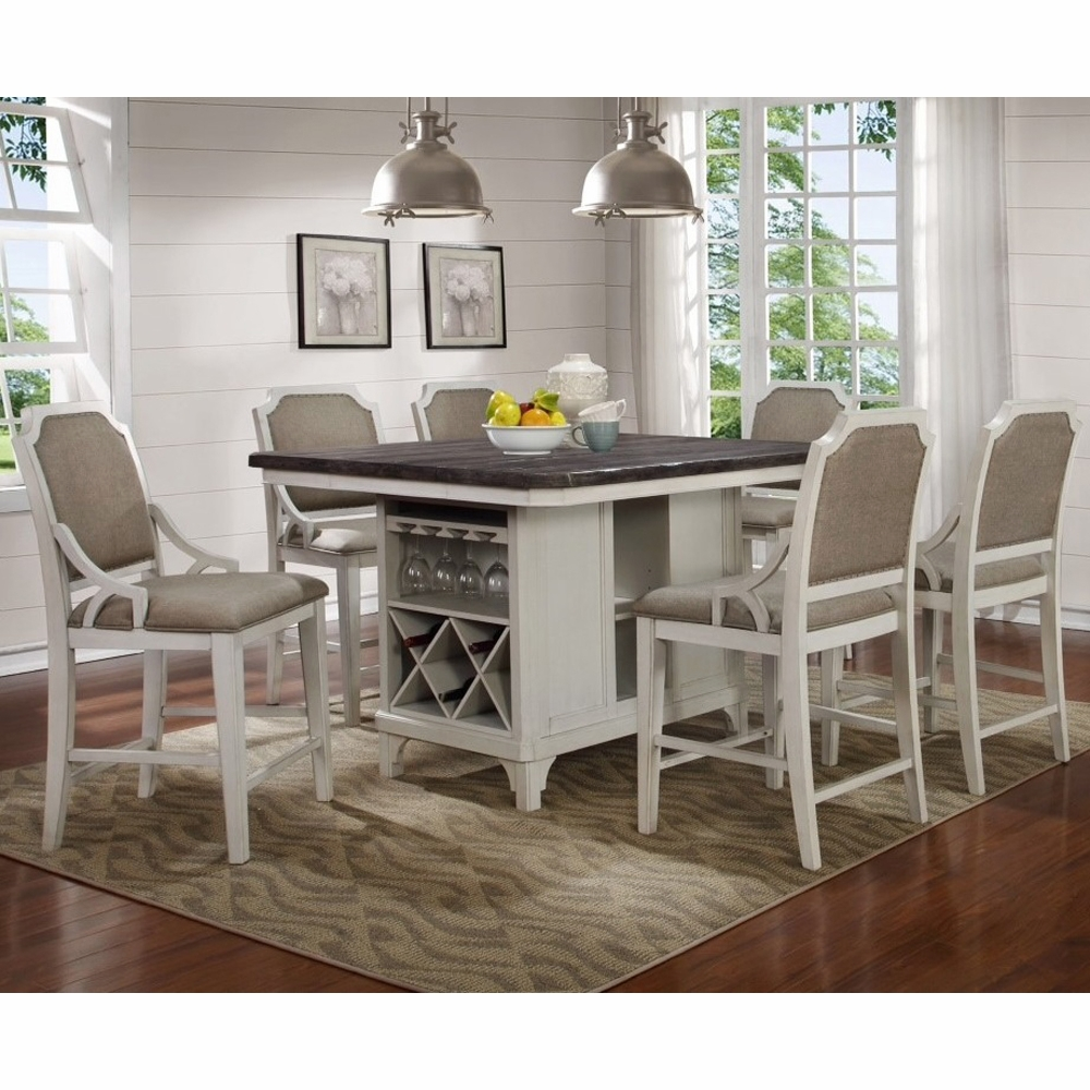 Avalon   Mystic Cay Kitchen Island With 6 Gathering Chairs    D00042 KIB_KIT_GC_GC_GC