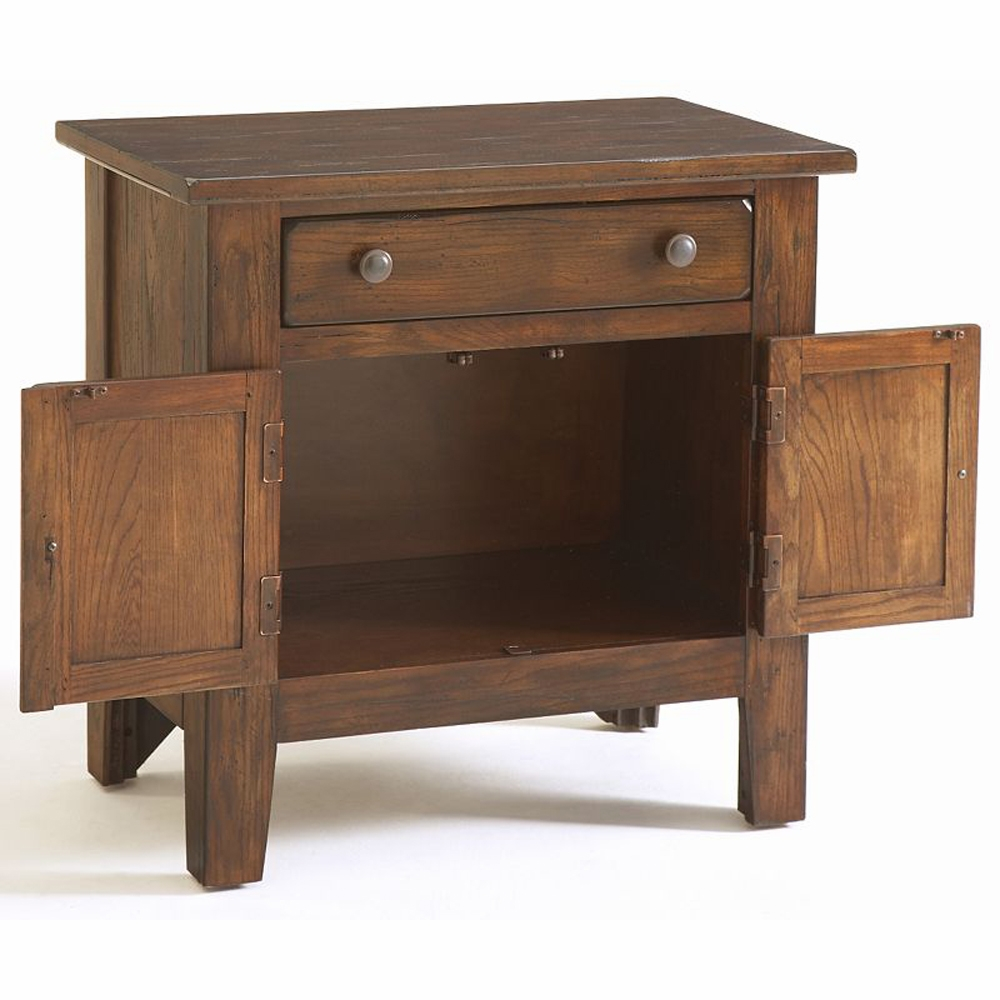 Broyhill Attic Heirlooms Door Night Stand In Rustic Oak