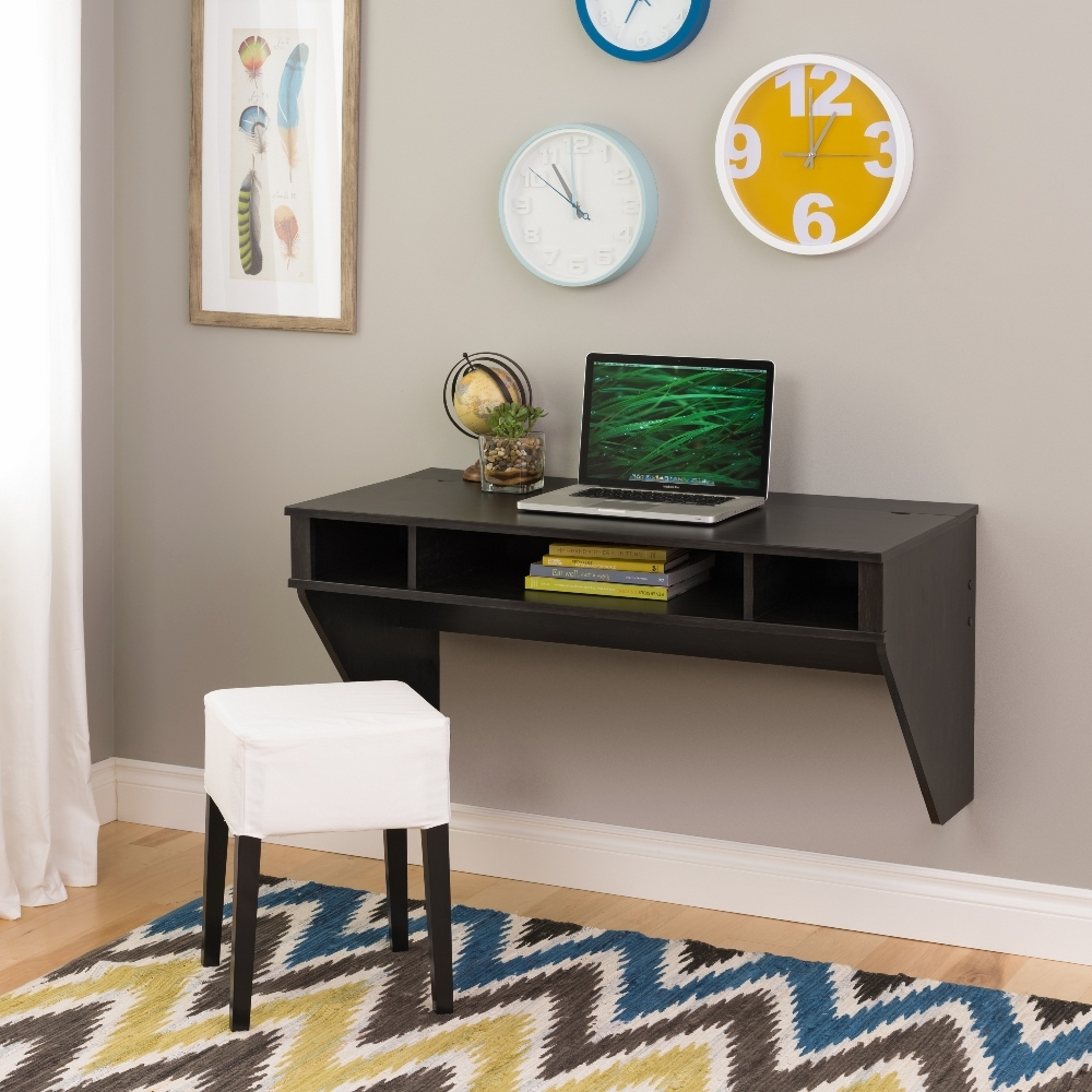 Prepac   Designer Floating Desk In Washed Black   HEHW 0500 1
