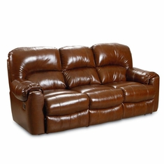Lane   Collins Double Reclining Sofa In Mayfield Saddle Finish   364 39 155