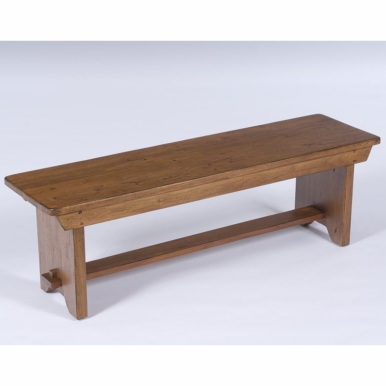Broyhill Attic Heirlooms Bench Wood Seat In Natural Oak Stain 5397 96s