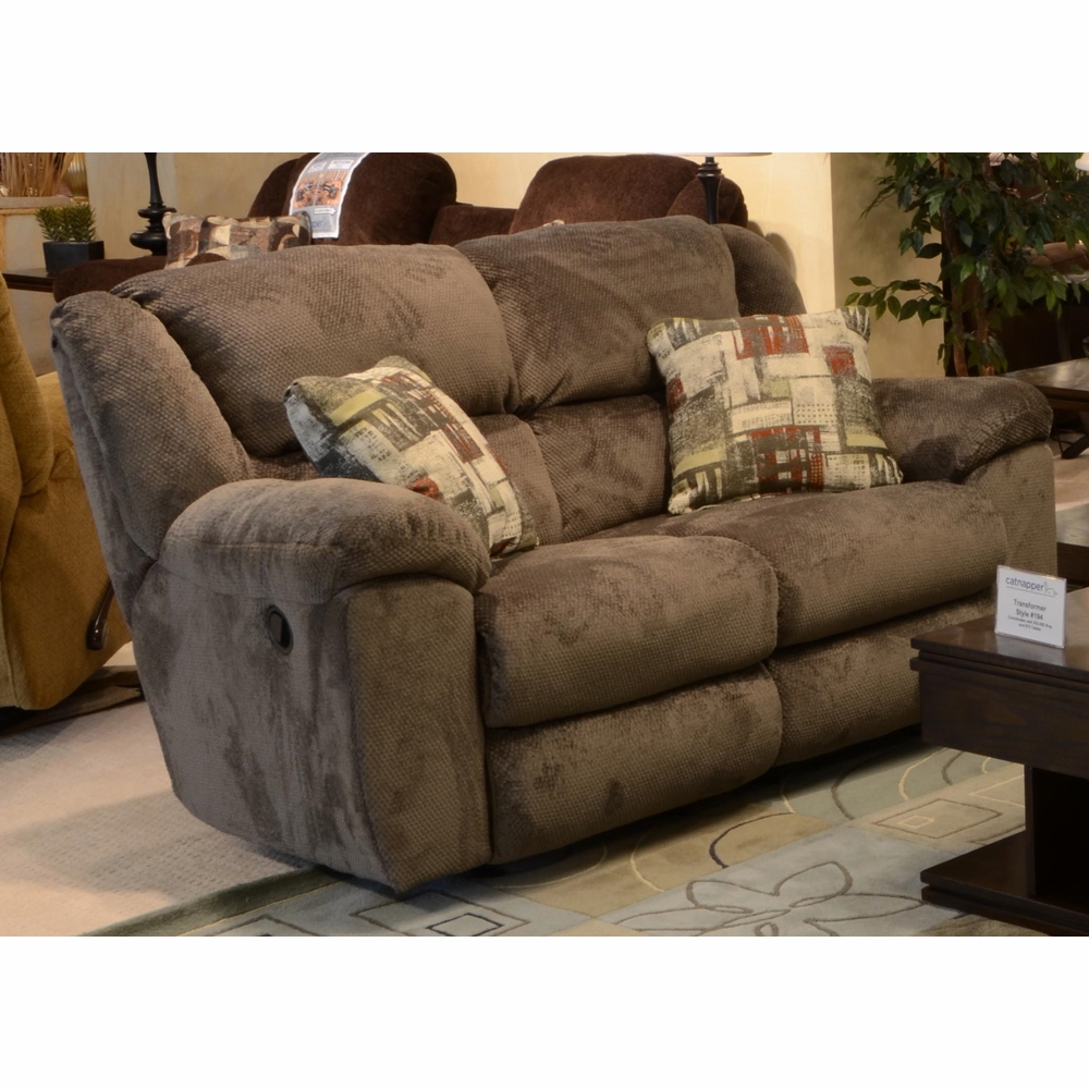 reclining width with height threshold adcock monaco choco catnapper lay flat loveseat console products trim item monacolay