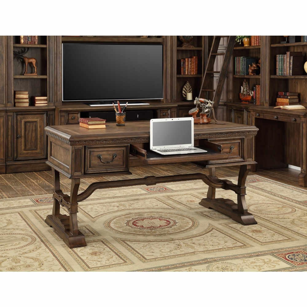 Parker House   Aria Writing Desk With Usb Power Center In Antique Vintage  Smoked Pecan   ARI#485