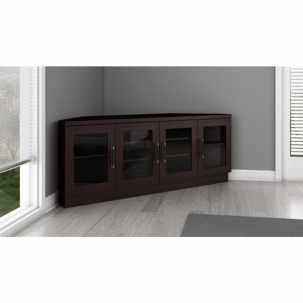 Furnitech 60 Quot Contemporary Corner Tv Stand Media Console
