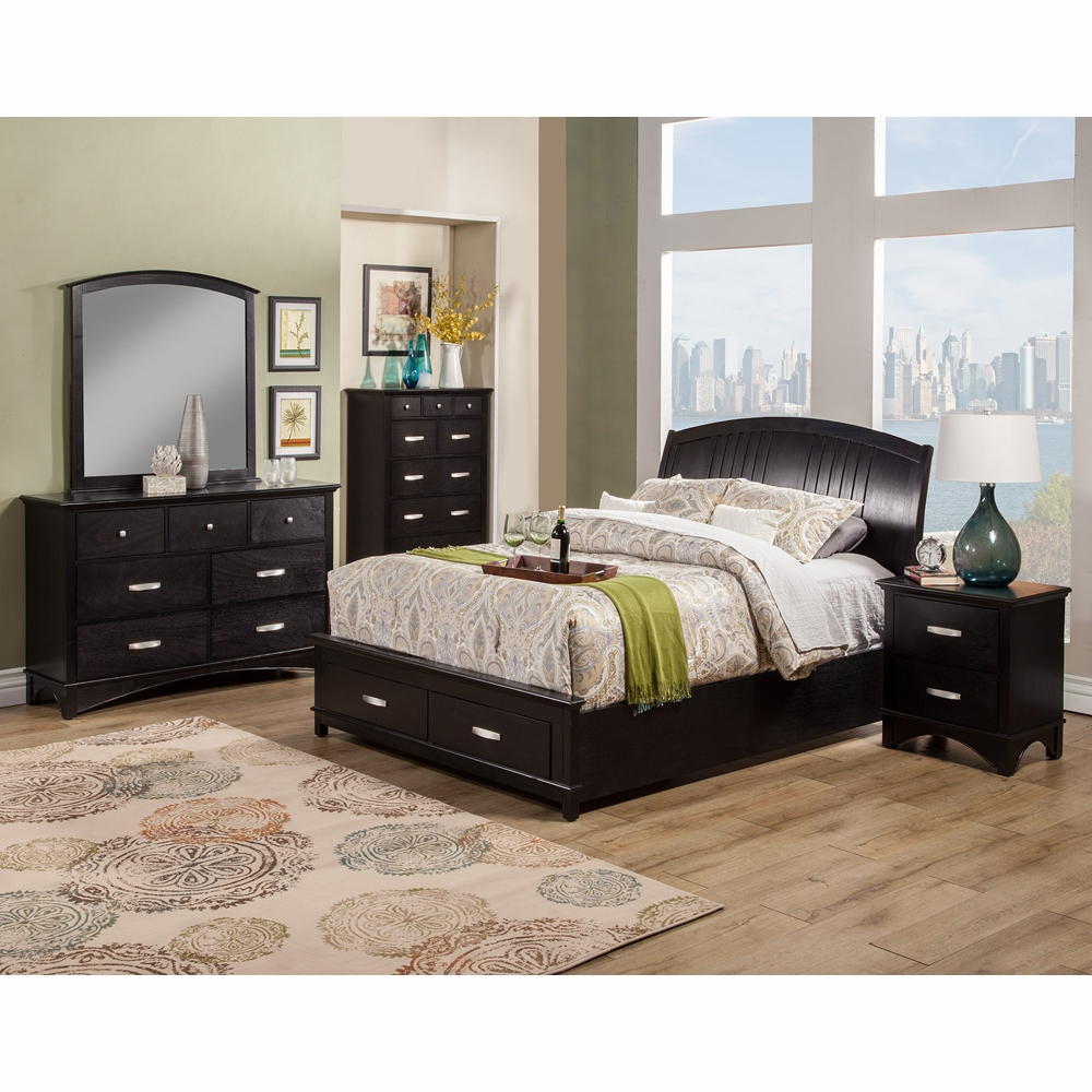 Alpine Furniture Madison 5 Piece California King Bedroom Set