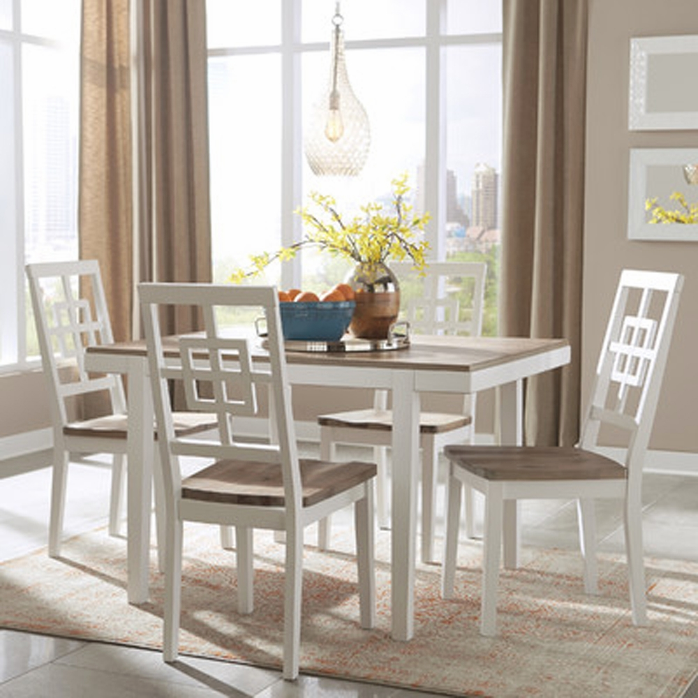 Signature Design by Ashley - Brovada Rectangular Dining Room Table Set (5-piece) - D298-225 & Signature Design by Ashley - Brovada Rectangular Dining Room Table ...