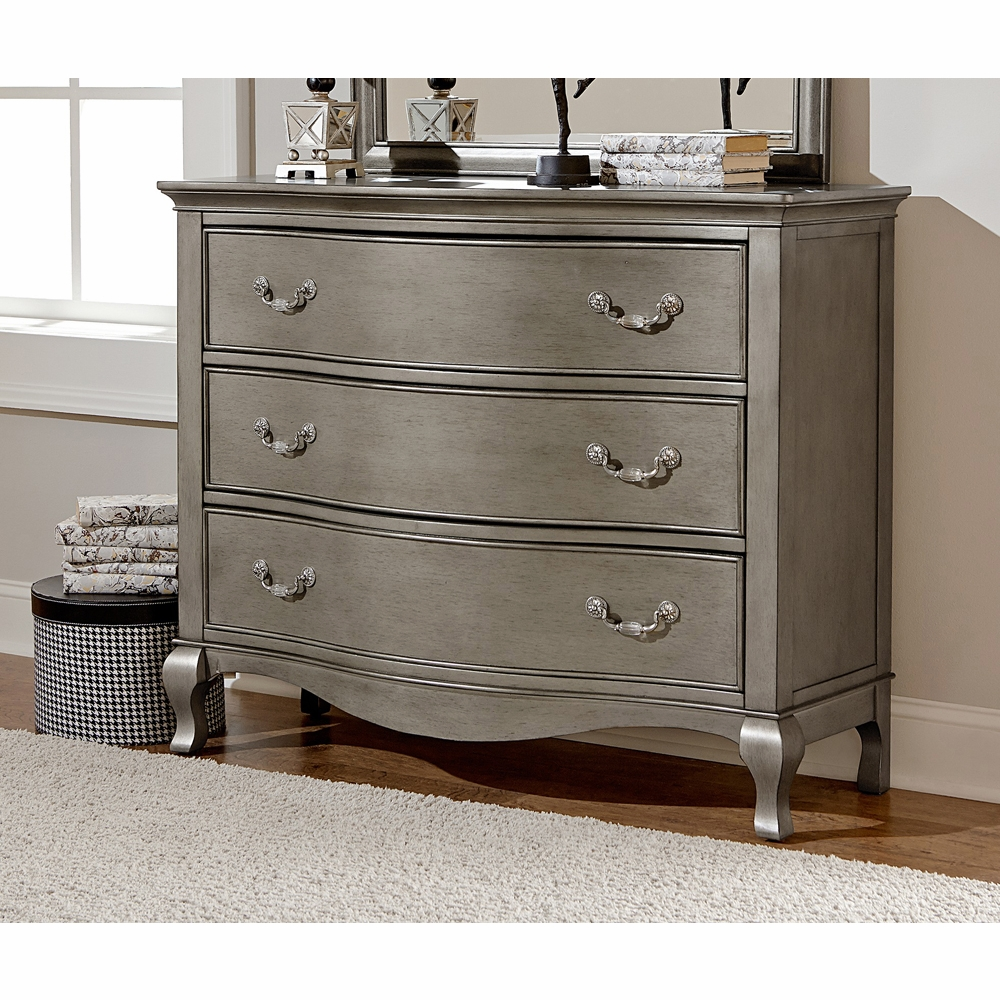 Hilale Kensington 3 Drawer Single Dresser Antique Silver 30505