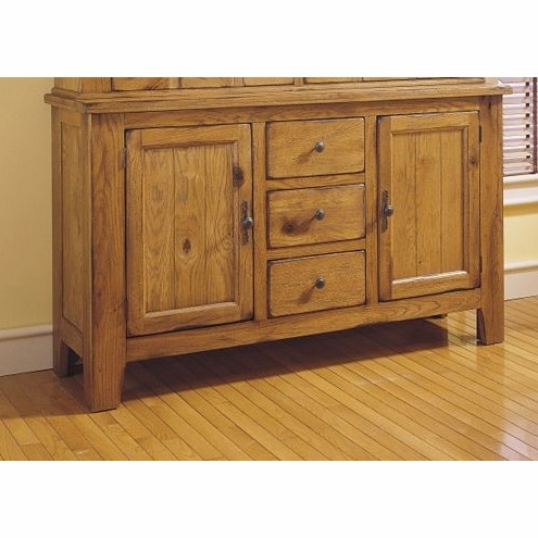 Broyhill Attic Heirlooms China Base In Natural Oak Stain