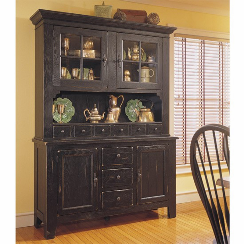 Antique Kitchen Hutch And Buffet: Attic Heirlooms China In Antique Black