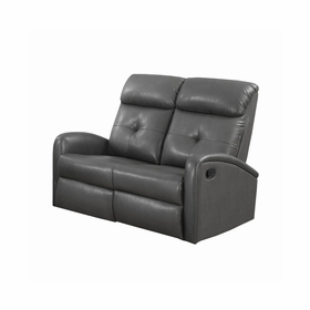 Leather Reclining Loveseats by Monarch