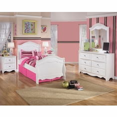 Signature Design By Ashley Exquisite 4 Piece Twin Sleigh Bedroom Set Ns