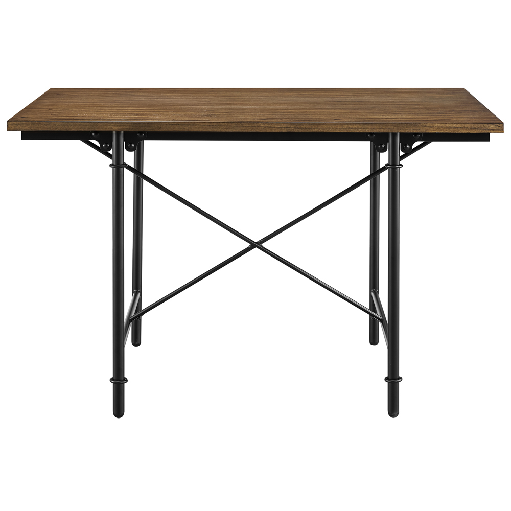 Pulaski 5 Piece Industrial Wood And Metal Dining Set - DS...
