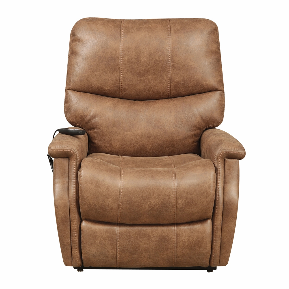 Pulaski   Faux Leather Dual Motor Lift Chair In Badlands Saddle    DS A283 016 042