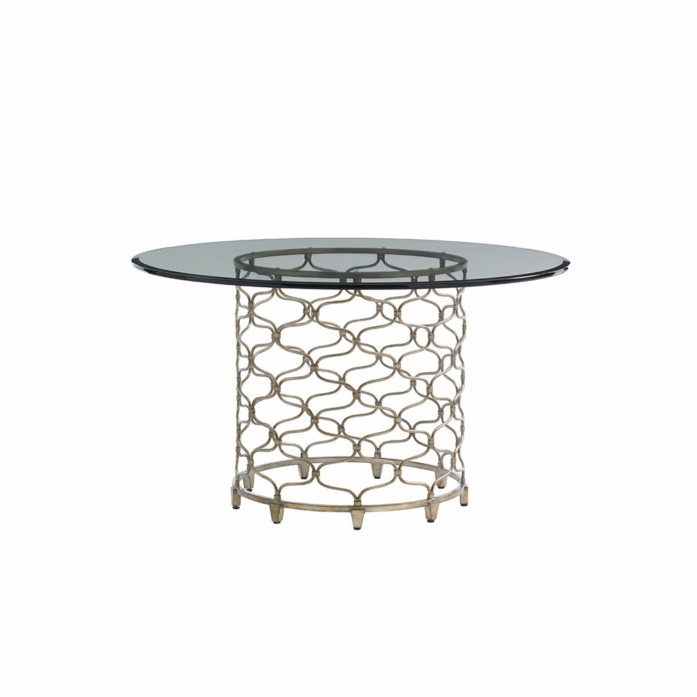 Lexington Laurel Canyon Bollinger Round Dining Table With Inch - 54 inch glass top round dining table