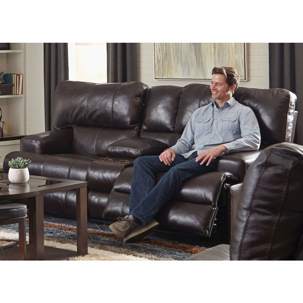 wembley loveseat lay walnut power pin in headrest flat catnapper console leather reclining with