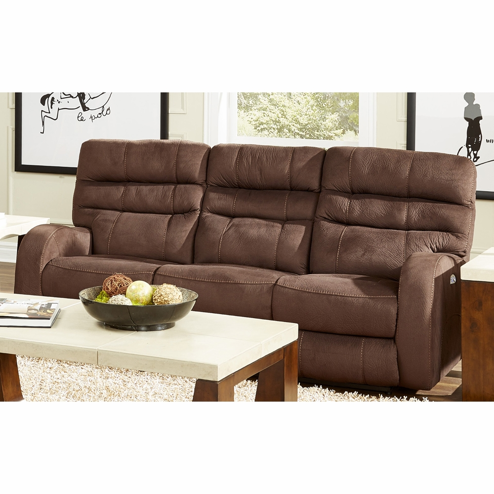 Catnapper   Kelsey Walnut Power Headrest Power Lay Flat Reclining Sofa    61901