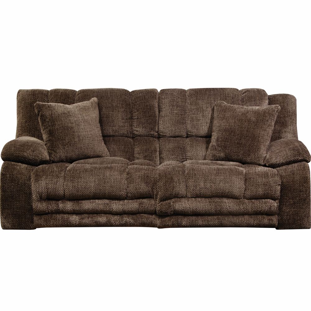 Catnapper   Branson Chocolate Power Lay Flat Reclining Sofa W/Extended  Ottoman   62001