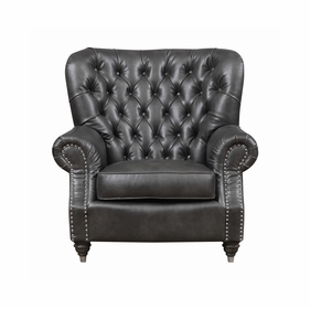 Leather Single Chairs by Emerald Home Furnishings