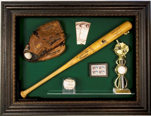 Baseball Bat & Glove Display Case