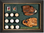 Baseball Glove & Ball Display Case