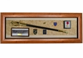 Military Sword Shadow Box Display Case