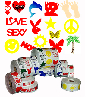Stickers 1000 Count Rolls