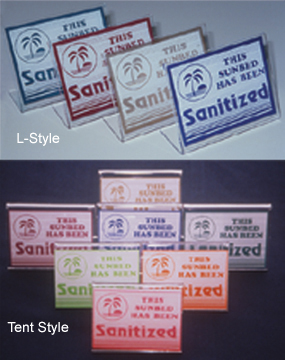 Santized Bed Signs (Asst Colors)
