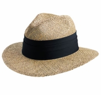 Personalized Safari Straw Hat with Pinched Top