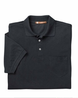 Company Logo Polo Shirt with Pocket by Harriton