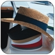 Company Logo Straw Hats by Yupoong with Multi-color Hat Bands