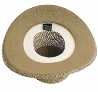 Gambler Straw Hat with Underbrim Cover for Extra UV Sun Protection