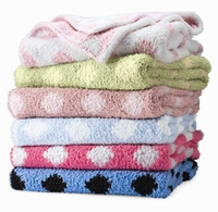 Colorado Trading Crib Clouds Chunky Chenille Polka Dot Baby Blanket