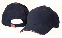 Adam's Patriot American Flag Baseball Cap with USA Flag Sandwich Bill