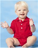 Rabbit Skins Infant 5.5 oz. Jersey Golf Shirt Bodysuit