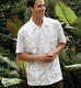 Cubavera Four Pocket Guayabera Camp Shirt with Custom Embroidered Logo
